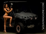 Mercedes Terrell and hot quad bike wallpaper