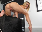 Mia Malkova shows her shaved pussy