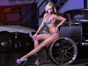 Mina Hoffmann stunning blonde in the garage