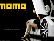 Momo wheels and hot long legs model wallpaper