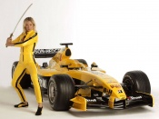 Nell Mcandrew and formula 1 car wallpaper