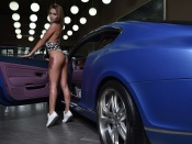 Oksana Popenko hot ass babe and Bentley Continental
