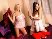 Lucy Pinder and Michelle Marsh in lingerie sexy wallpapers