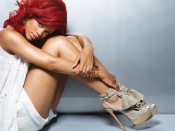 Rihanna sexy readhead wallpaper, Rihanna wallpapers, celebrity wallpaper, hot singer