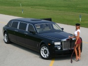 Rolls Royce Phantom and hot babe wallpaper