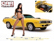 Sarah McDowd and 70 Plymouth Cuda Muscle Car wallpaper, Sarah McDown wallpapers, babes and cars, bikini models, sexy desktop