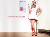 Sarah Michelle Gellar, sexy nurse photo wallpaper, celebrity, actress, beauty, sexy girl
