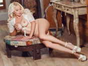 Sarah Summers naked blonde country girl playmate