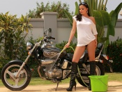 Sexy Sasha Cane and bike wallpaper
