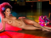 Shanice Jordyn, naked, nude, nice tits, nipples, shaved, hot babe, big curly hair, afro