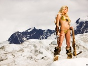 Tailor James sexy warrior wallpaper, ice age , artistic, playmate, hot model, blonde beauty