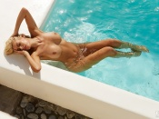 Tanja Brockman, nude, curvy, blonde, playmate, naked, hottie, nice tits, wet, pool, playboy germany, erotic, shaved pussy