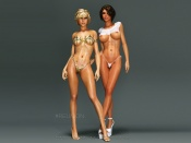 The Hottest Sisters 3d erotic art