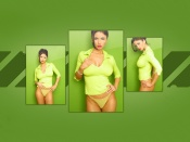 Veronica Zemanova sexy green background
