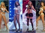 Victoria Secret sexy lingerie models on the runway