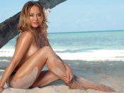 zhanna friske, nude photo, sexy blonde, beach, naked, hottie, russian, sexy woman