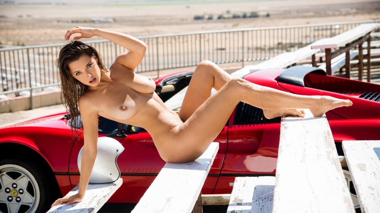 Alyssa Arce Nude Pics alyssa arce perfect busty playmate nude on a supercar wallpapers