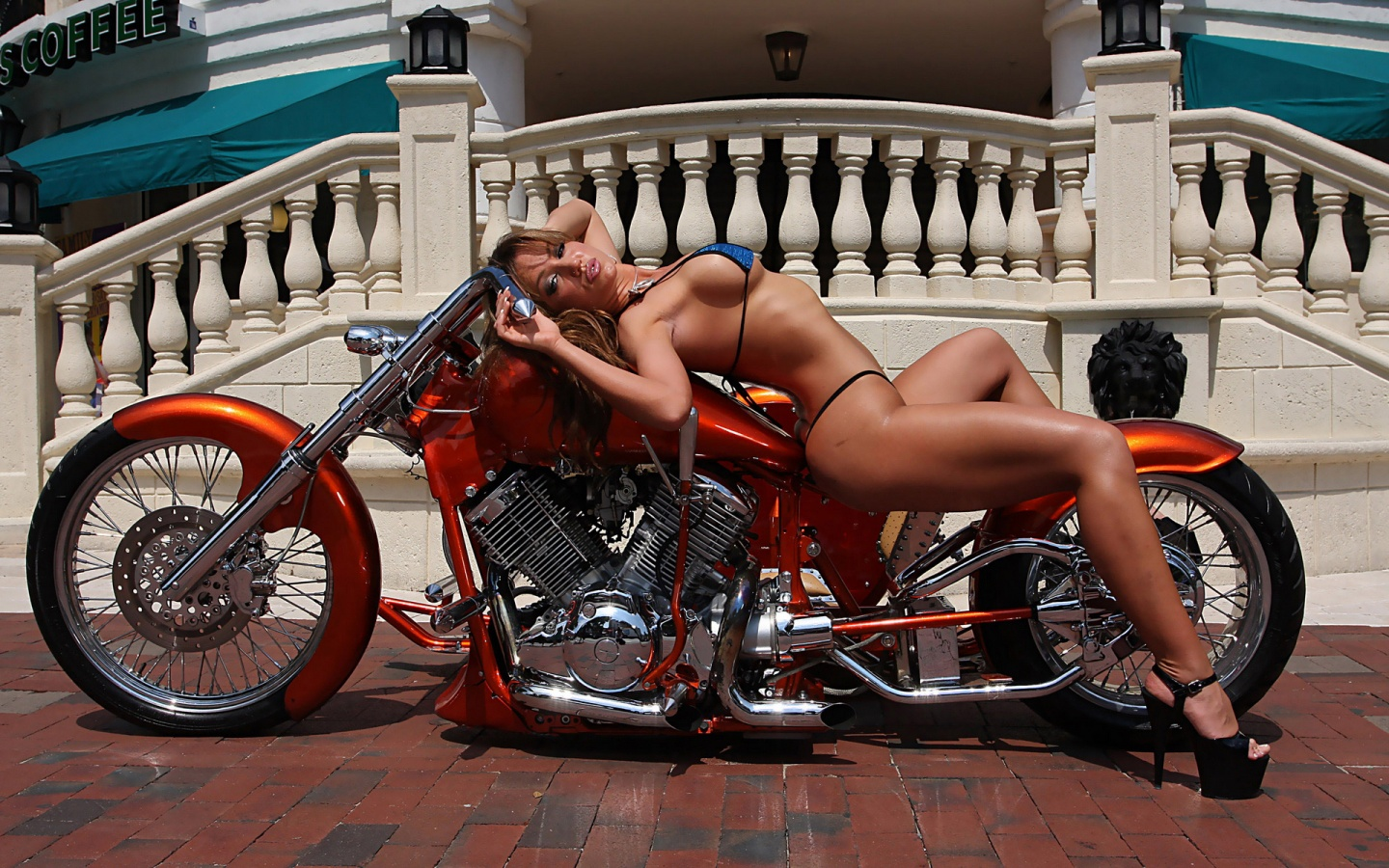nude wives Motorcycle biker