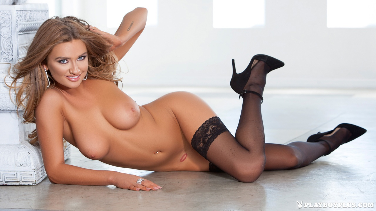 Brittney Shumaker nude sexy playmate on the floor exposing ...