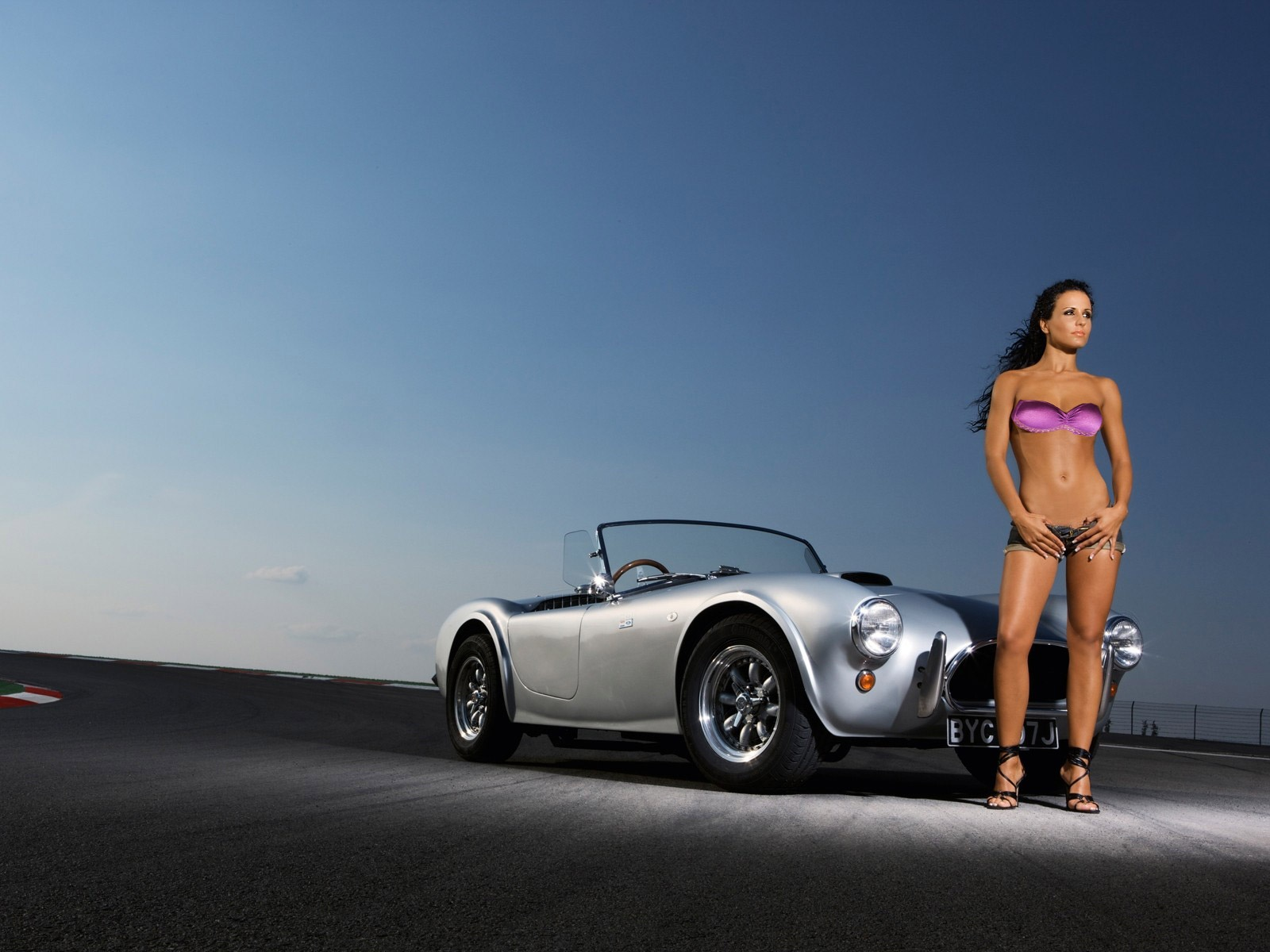 Daniela Golm sexy brunette lingerie model and ford shelby