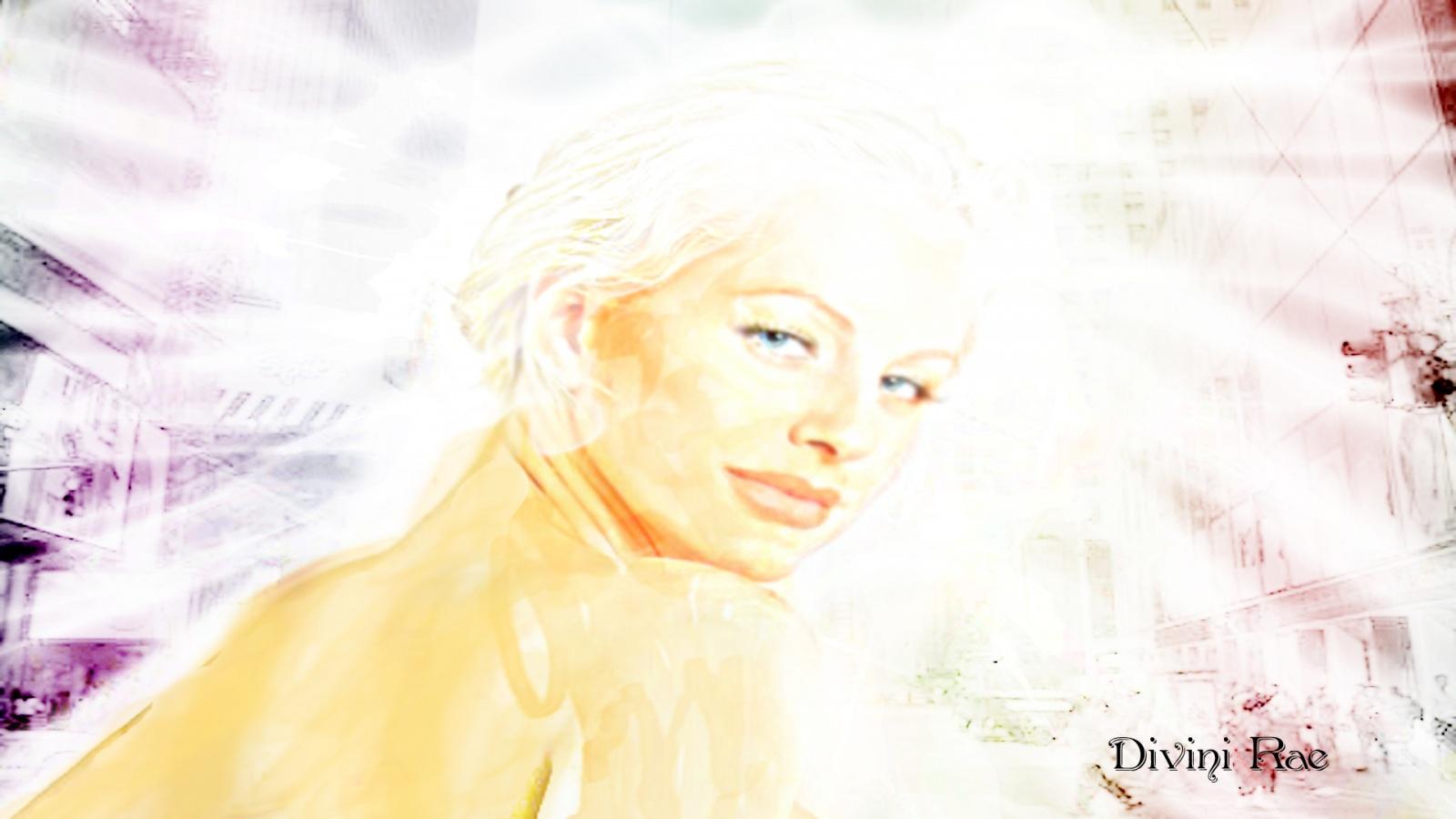 Divini Rae Sorenson angel like portrait graphic wallpaper