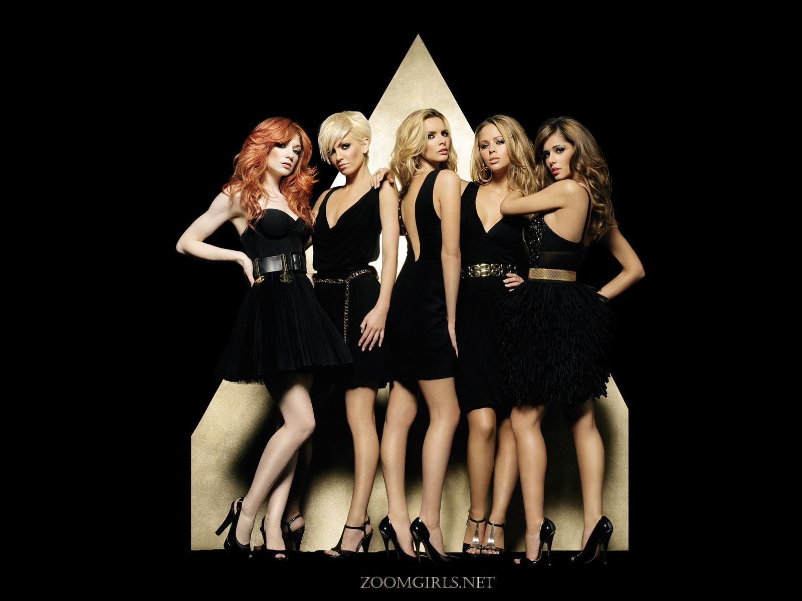 Girls Aloud sexy new album promo photo black sexy dress