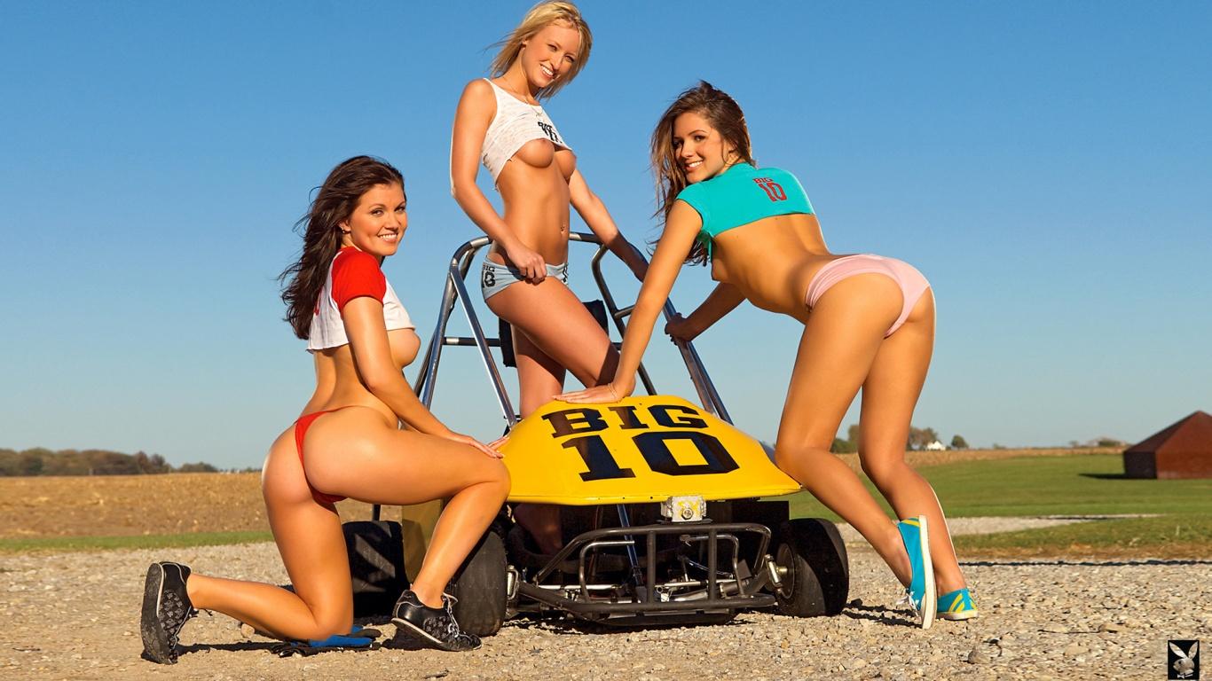 nude girls on go kart