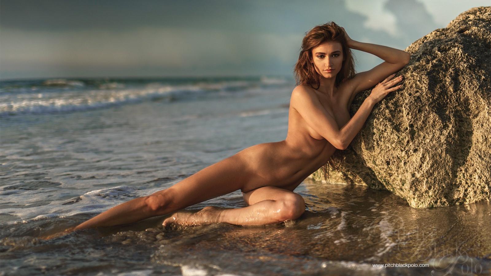 Ilvy Kokomo hot beauty naked by the sea 1600x900 nude models and ...
