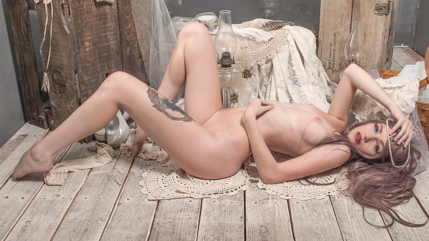 Katrina Wilkinson naked emo blonde beauty on the floor ...