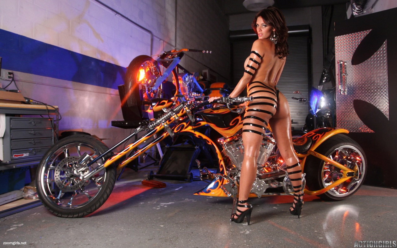 Monica and Custom Chopper