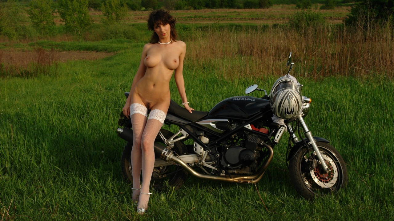 Nude girls at motor cycle idea think