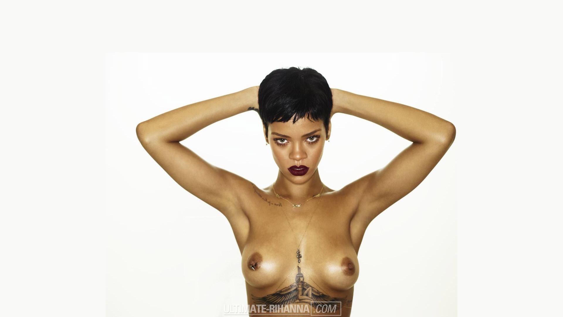 Rihanna topless wallpaper